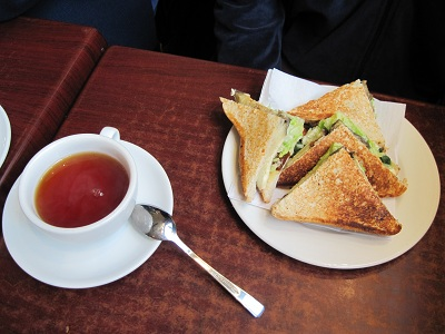 Sandwich and tea